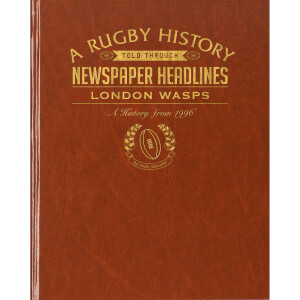 Leicester Tigers Rugby Newspaper Book - Brown Leatherette