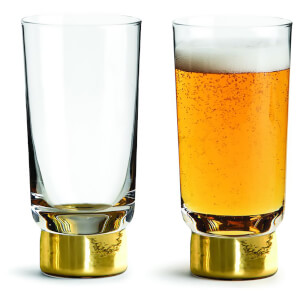 Sagaform Club Beer Glasses - Gold (Set of 2)