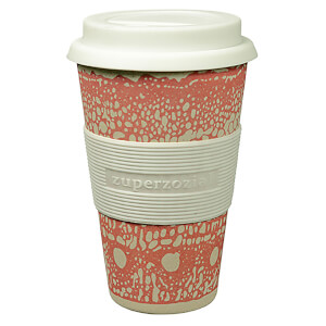 Zuperzozial Cruising Bamboo/Corn Travel Mug - DNA Pink