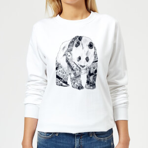 Tobias Fonseca Tattooed Panda Women's Sweatshirt - White