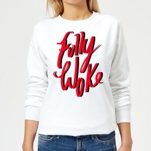 Rock On Ruby Fully Woke Women's Sweatshirt - White