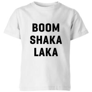 PlanetA444 Boom Shaka Laka Kids' T-Shirt - White