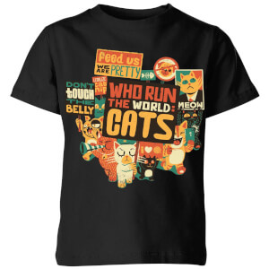 Tobias Fonseca Who Run The World? Cats. Kids' T-Shirt - Black