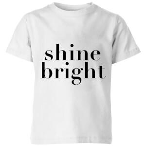 PlanetA444 Shine Bright Kids' T-Shirt - White