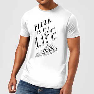 Rock On Ruby Pizza Is My Life Men's T-Shirt - White