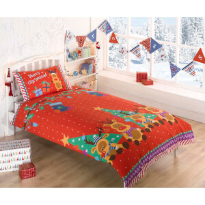 Rudolf Reindeer Duvet Cover Set - Multi