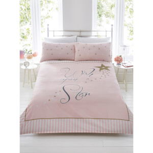 Wish Upon A Star Duvet Cover Set - Pink