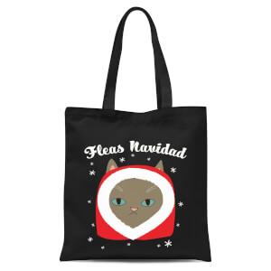 Fleas Navidad Tote Bag - Black