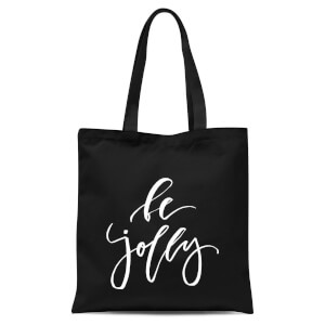 Be Jolly Tote Bag - Black