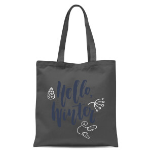 Hello Winter Tote Bag - Grey