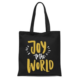 Joy To The World Tote Bag - Black