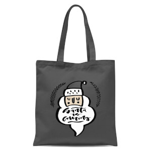 Santa Is Coming Tote Bag - Grey