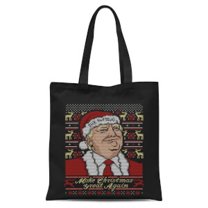 Make Christmas Great Again Tote Bag - Black