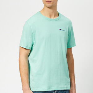Champion Men's Small Script T-Shirt - Teal