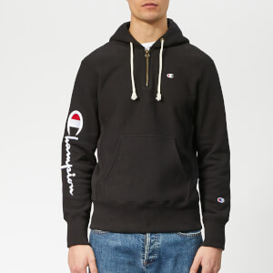 Champion Men's Half Zip Over Head Hoodie - Black
