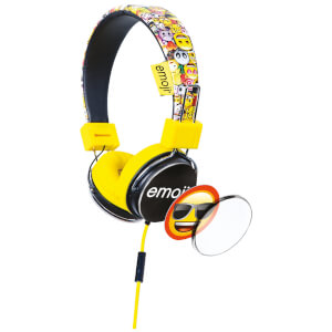 Emoji Flip N Switch Wired Headphones - Yellow