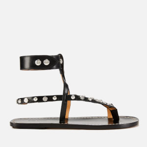 Isabel Marant Women's Engo Flat Sandals - Black