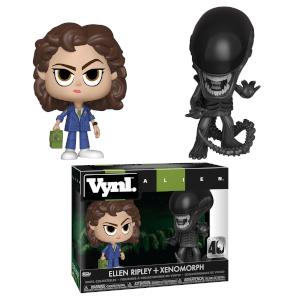 Statuette di uno Xenomorfo e Ripley di Alien, Vynl.