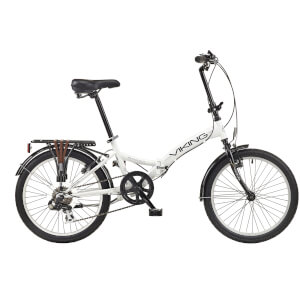 "Viking Metropolis 6sp Folding Bike - White 20"" Wheel"