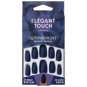Unhas Postiças Queen of Night da Elegant Touch - Midnight Creepin'