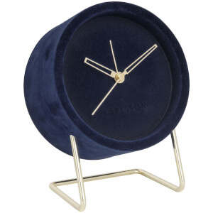 Karlsson Alarm Clock Lush Velvet - Dark Blue