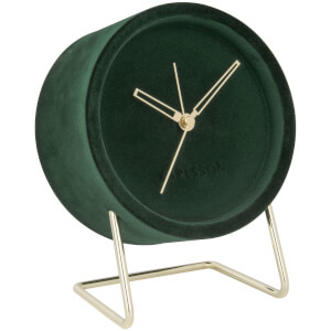 Karlsson Alarm Clock Lush Velvet - Dark Green