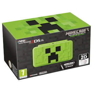 New Nintendo 2DS XL Minecraft Creeper Edition + Minecraft: New Nintendo 3DS Edition