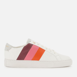 Kurt Geiger London Women's Lane Leather Stripe Low Top Trainers - Orange