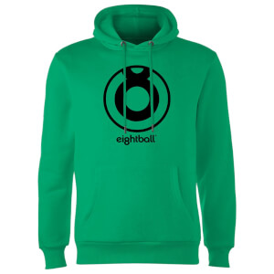 Ei8htball Large Black Logo Hoodie - Kelly Green