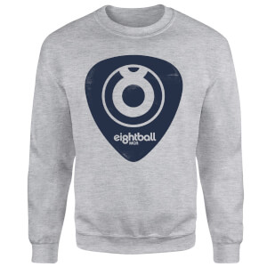 Ei8htball Navy Plectrum Logo Sweatshirt - Grey