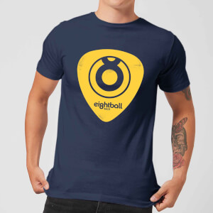 Ei8htball Yellow Plectrum LOGO Men's T-Shirt - Navy