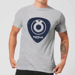 Ei8htball Navy Plectrum Logo Men's T-Shirt - Grey