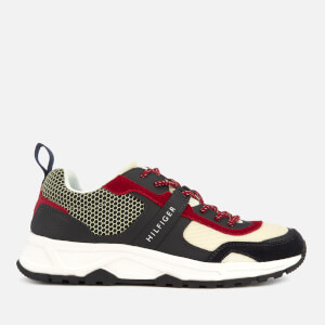 Tommy Hilfiger Men's Material Mix Lightweight Runner Trainers - Red/White/Blue