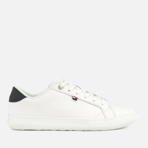 Tommy Hilfiger Men's Essential Leather Cupsole Trainers - White