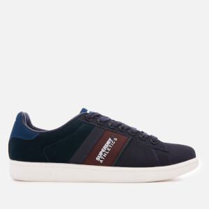 Superdry Men's Sleek Tennis Trainers - Navy/Highland Green/Port