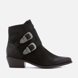 Superdry Women's Rodeo Monk Heeled Ankle Boots - Black