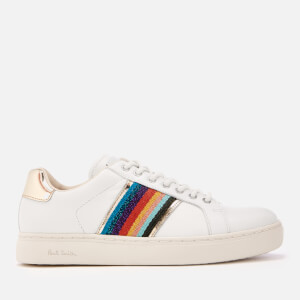 PS Paul Smith Women's Lapin Metallic Cupsole Trainers - White