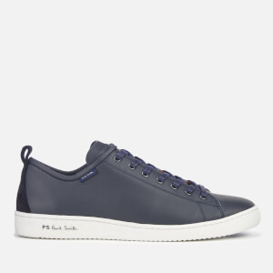 70b13f4f47e PS Paul Smith Men s Miyata Leather Low Profile Trainers - Dark Navy