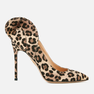 Charlotte Olympia Women's Blake Satin Court Shoes - Leopard