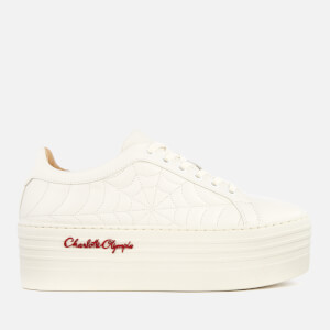 Charlotte Olympia Women's Ace Cobweb Platform Trainers - Off White