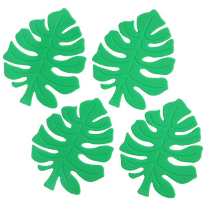 Sunnylife Monstera Leaf Silicone Coasters