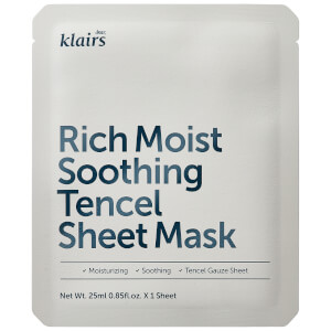 Dear, Klairs Rich Moist Soothing Tencel Sheet Mask 25ml: Image 1