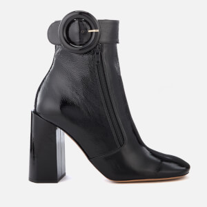 Mulberry Women's Patent Block Heel Ankle Boots - Black