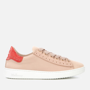 Mulberry Women's Jump Leather Low Top Trainers - Pink