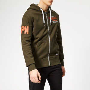Superdry Men's Premium Goods Duo Zip Hoody - Black Olive Grit