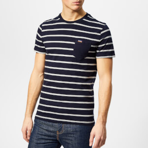 Superdry Men's Orange Label Portland Stripe Pocket T-Shirt - Navy Auto Stripe