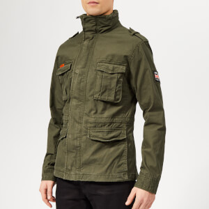 Superdry Men's Classic Rookie Military Jacket - Forest Night