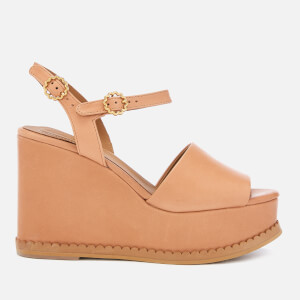 See By Chloé Women's Carrie Leather Wedge Sandals - Sierra