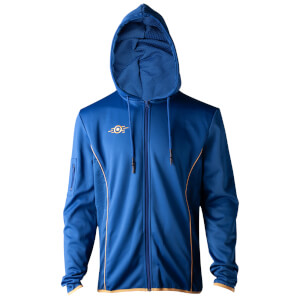 Fallout Men's Join Vault 76 Technical Hoodie - Blue