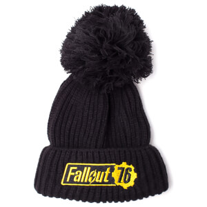 Fallout Men's Logo 76 Bobble Beanie - Black
